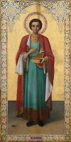 Икона вмч. и целителя Пантелеимона с частицей мощей.