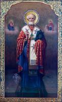Икона свт. Николая Чудотворца с частицей мощей.